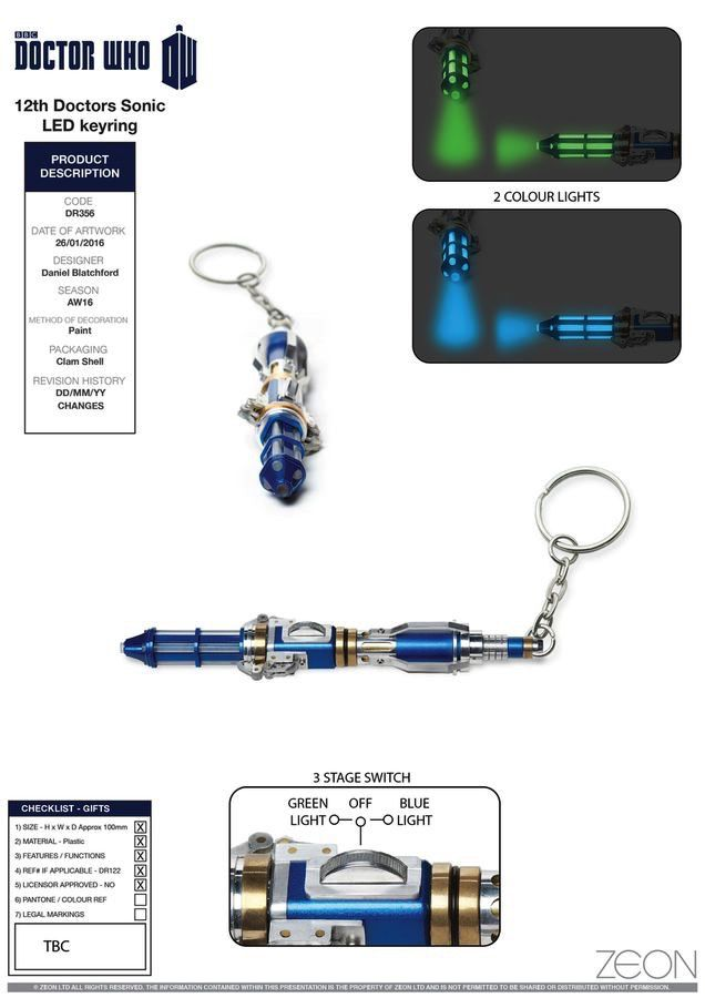 Australia Dr Who - 12th Doctor Sonic Screwdriver Keyring