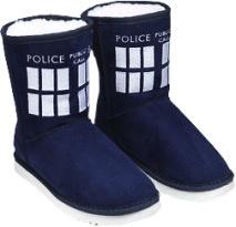 Australia Dr Who - TARDIS Boot Slipper Ladies Size 7