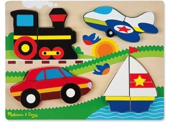 Australia M&D - Vehicles Chunky Jigsaw Puzzle