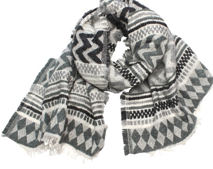 Australia Grey Agra Scarf Indian Cotton Blend