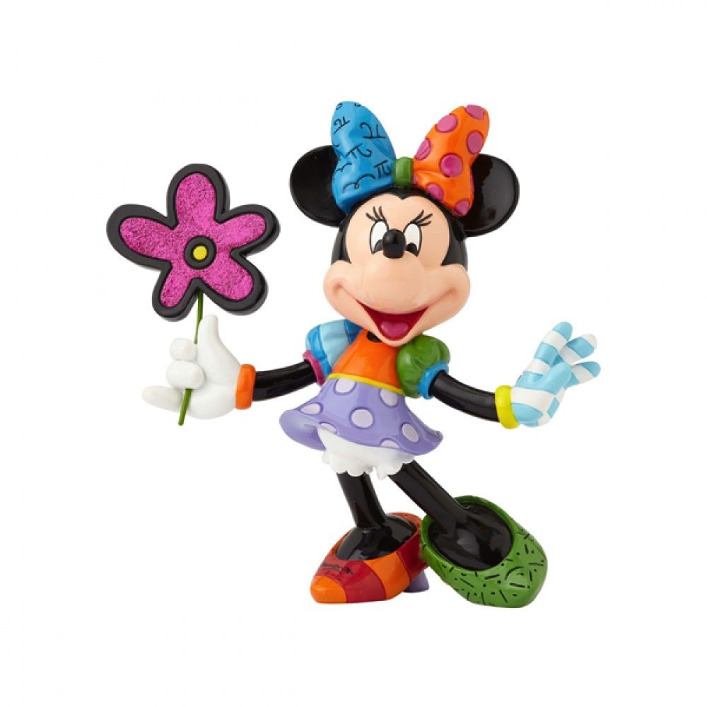 Australia RB MINNIE MOUSE WITH FLOWERS LARGE FIGURINE