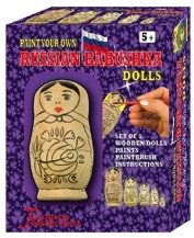 Australia RUSSIAN BABUSKA DOLL KIT:PAINT YR OWN