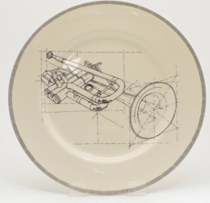 "Europe CLASSICAL MUSIC 10"" PLATE - trumpet"