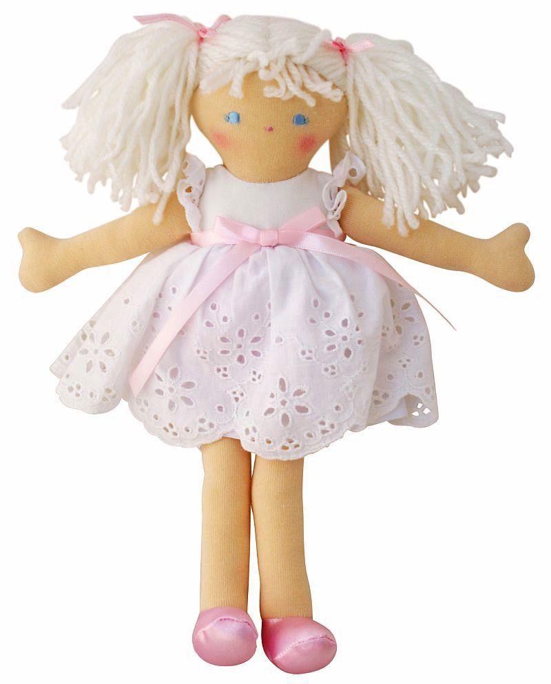 Australia Bella Doll - White Broderie Dress (25cm)
