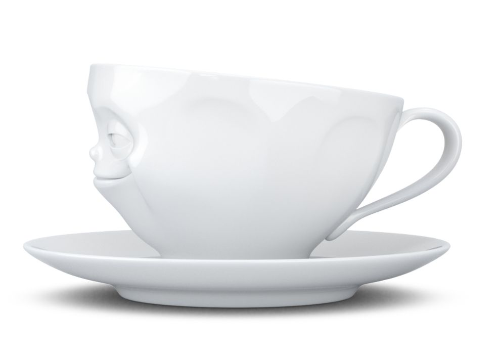 "Europe Coffee cup ""Grinning"" white"