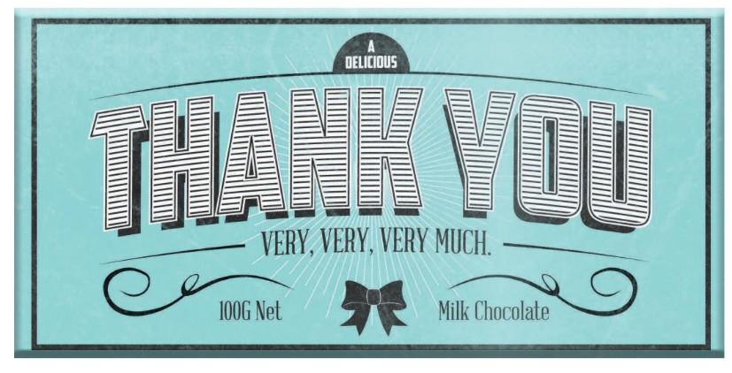 Australia Thank You Milk Chocolate