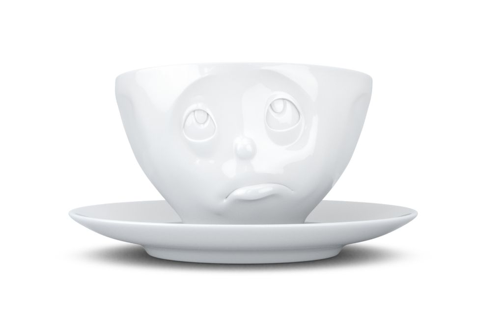"Europe Coffee Cup ""Oh please"" white"