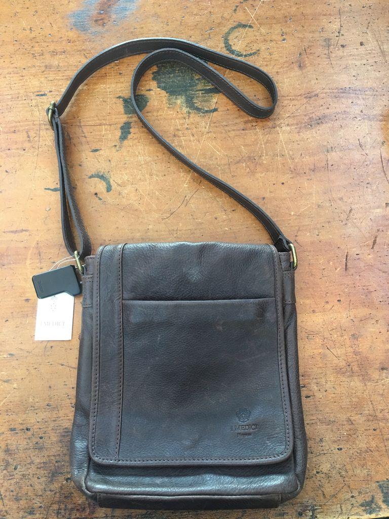 Australia Vintage leather calfskin bag-Chocolate