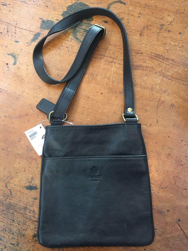 Australia Vintage style medium shoulder bag-Black