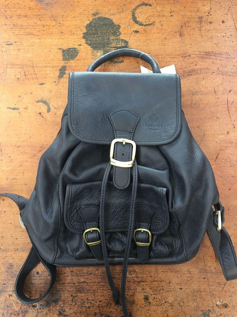 Australia Calfskin Backpack-Black