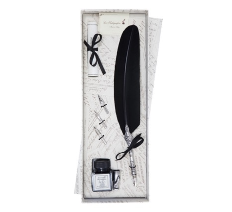Australia Feather Quill Gift Set - Black