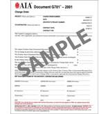 G701–2001, Change Order