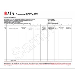 G703–1992, Continuation Sheet for G702