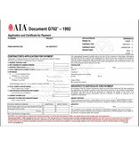 G702–1992, Application and Certificate for Payment (Pack of 50)