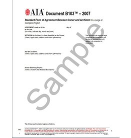 B series ownerarchitect agreements aia bookstore b1032007 standard form of agreement between owner and architect for a large or platinumwayz