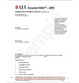 B202-2009 Standard Form of Architect's Services: Programming