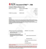 G706A–1994, Contractor's Affidavit of Release of Liens