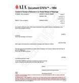 G707A–1994, Consent of Surety to Final Reduction in or Partial Release of Retainage (Pack of 50)