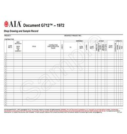 G712–1972, Shop Drawing and Sample Record