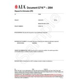 G716–2004, Request for Information (RFI)