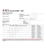 G804–2001, Register of Bid Documents (Pack of 50)