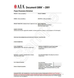 G806–2001, Project Parameters Worksheet