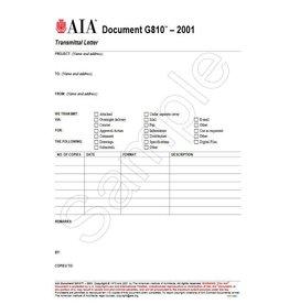 G810–2001, Transmittal Letter