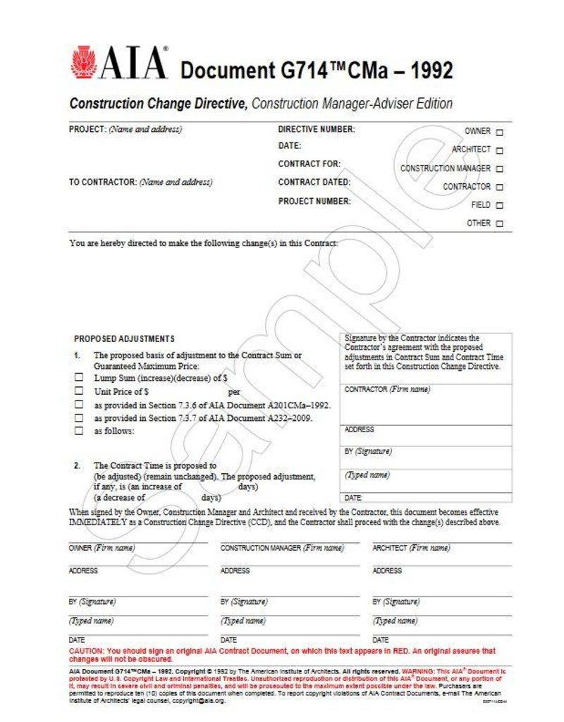 G-Series: Contract Administration and Project Management Forms ...