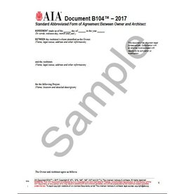 B104–2017, Standard Form of Agreement Between Owner and Architect for a Project of Limited Scope