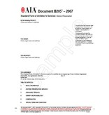 B205-2007 Standard Form Od Architects Services Historic Preservation