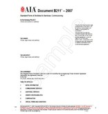 B211--2007 Standard Form Of Architects Services:Commissioning