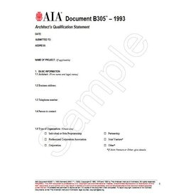 B305-1993 Architect's Qualification Statement