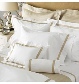 "Matouk Matouk Fitted Sheet-King/Ivory/Milano/17"", 600TC"