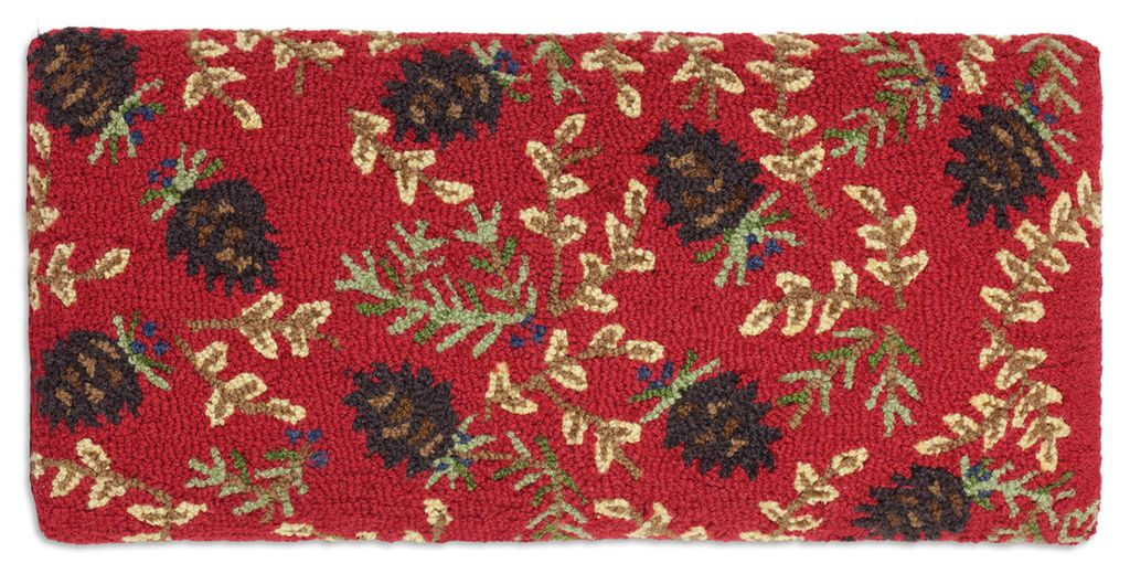 Bench-Ruby Pinecones/15 x 32