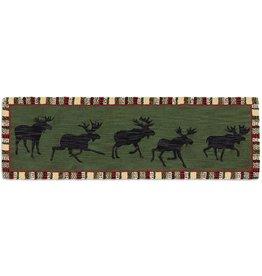 "Argyle Green Moose Rug- 30"" x 8' Runner"