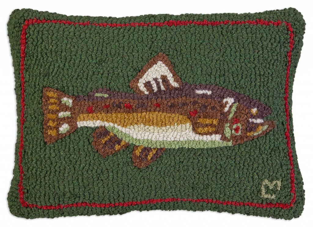 "Brown Trout 14"" x 20"" Pillow"