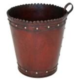 Leather Wastebasket