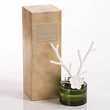 Zodax illuminaria Pocelain Diffuser Vetivert Wood Twig