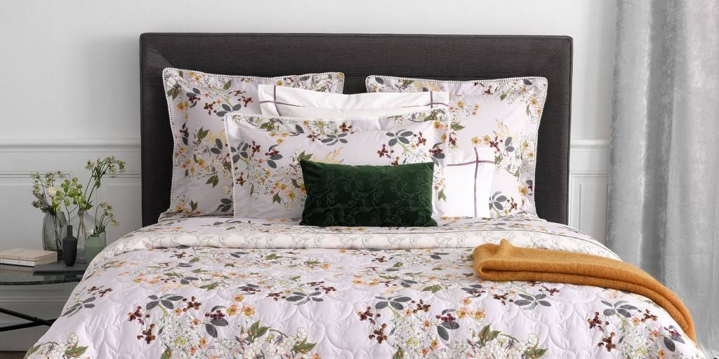Yves delorme yves delorme louise bedding cotton percale for Housse de couette yves delorme