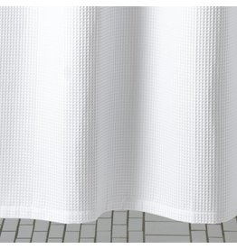 "Matouk Matouk Belgian Waffle Shower Curtain 72"" x 72"""
