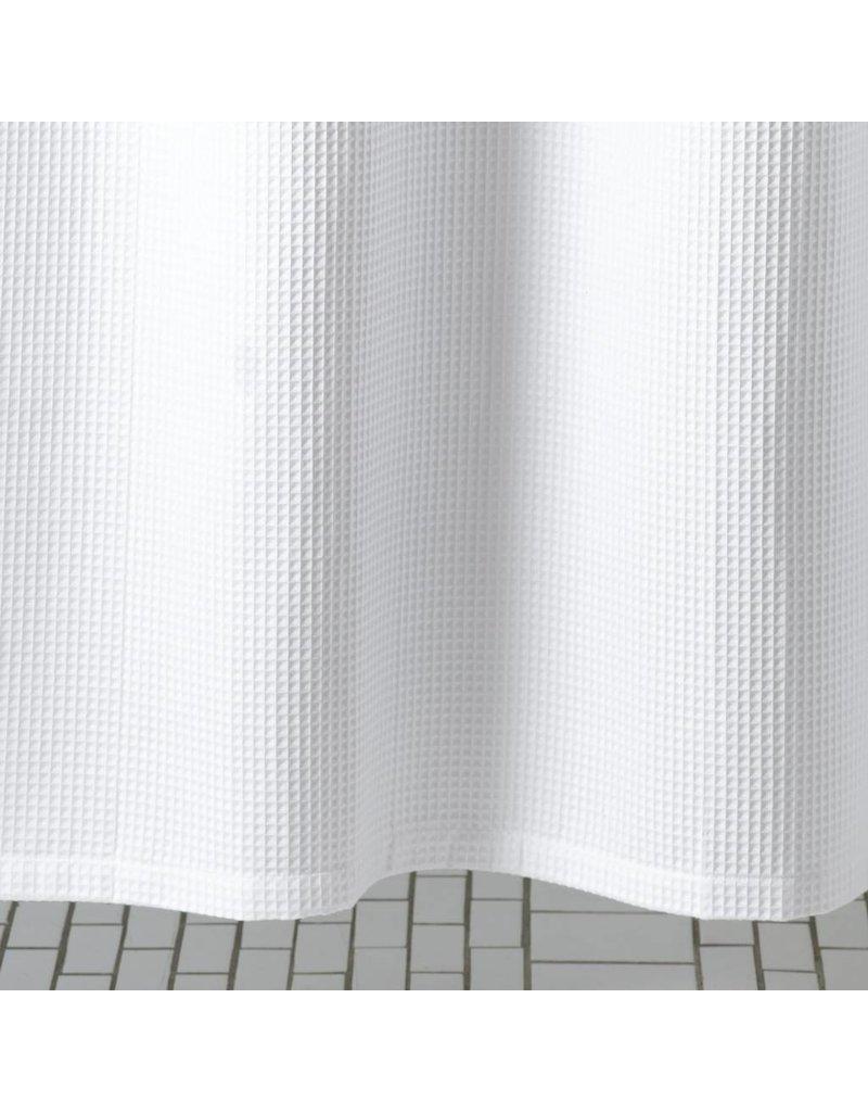 "White Waffle Shower Curtain matouk matouk belgian waffle shower curtain 72"" x 72"" - linen alley"