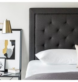 Upholstered Tufted Headboard Faux Linen