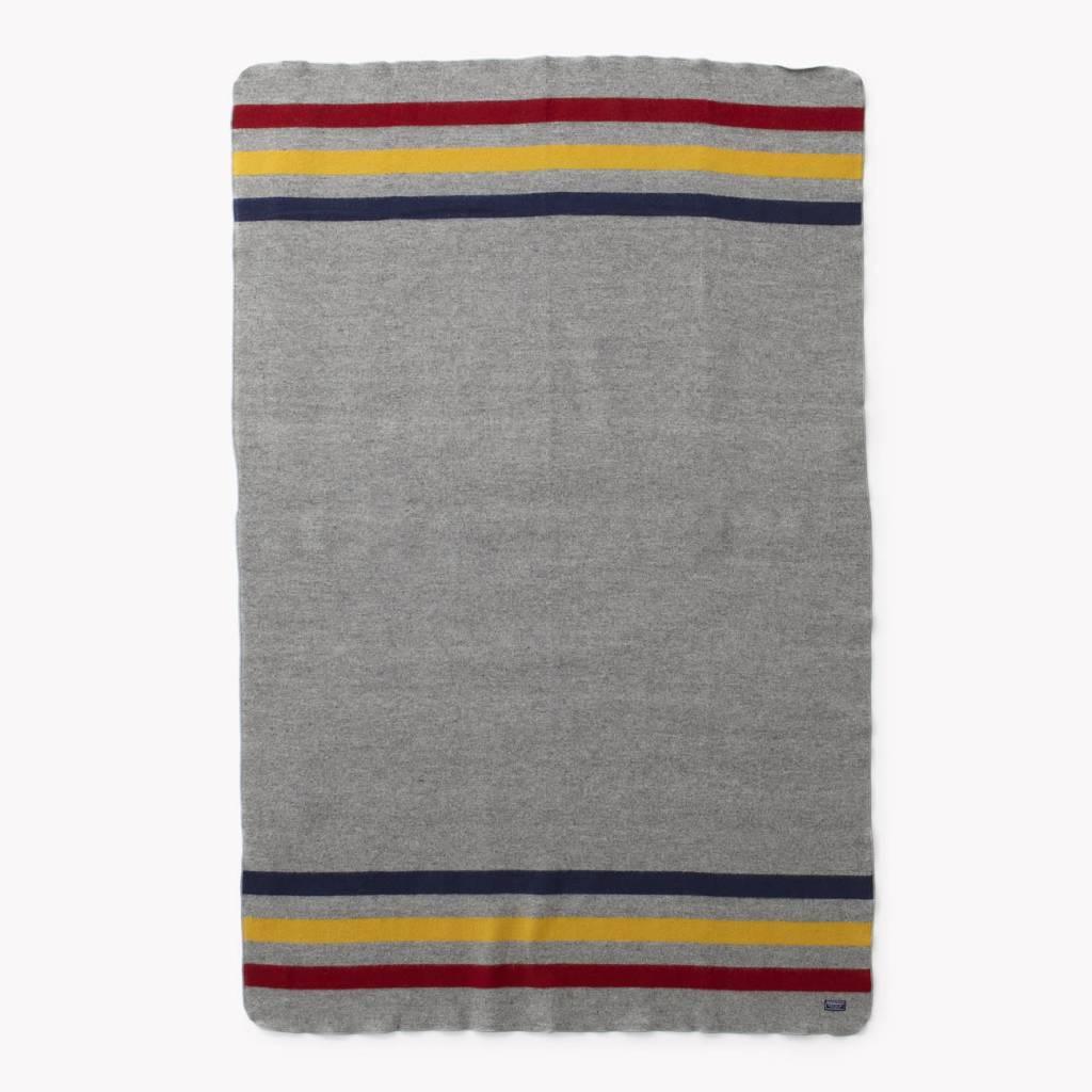 Faribault Woolen Mills Co. Wool Throw-Revival Stripe/85%Merino/15% Cotton