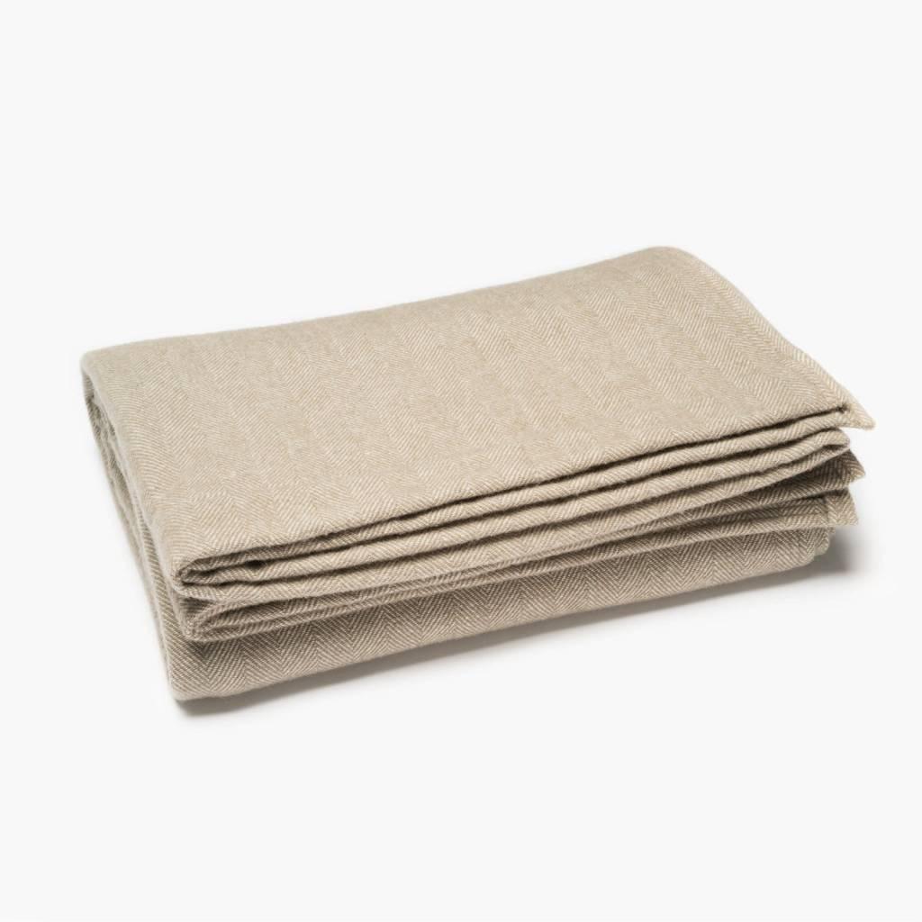 Faribault Woolen Mills Co. Herringbone Wool Blanket-Selfhem
