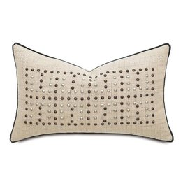 Gilmer Brulee Decorative PIllow/Nailheads