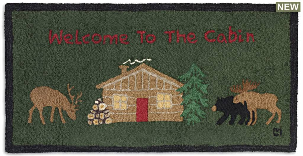 Welcome to the Cabin rug-2' x 4'