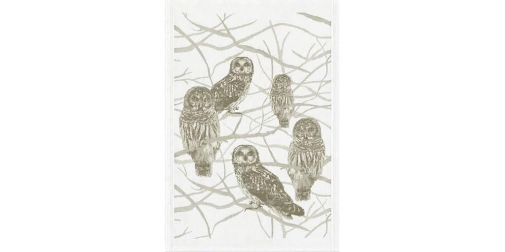 """Ekelund Guest Towel-Sitting Owls/14 x 20"""""""