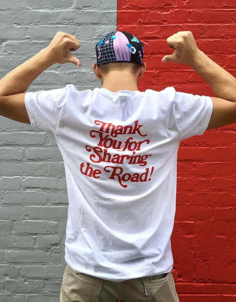 Dash Bicycle Dash Thank You for Sharing the Road Tshirt