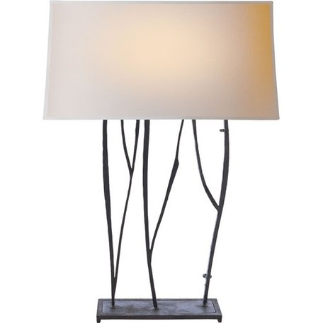 Aspen Table Lamp in Black Rust w/ Natural Paper Shade