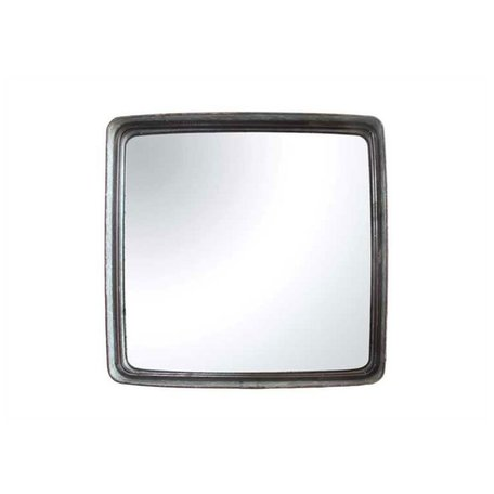 Square Iron Framed Mirror 23-1/2""